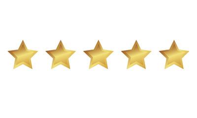 5 goldene Sterne