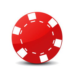 poker chip icon vector illustration on white