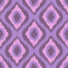 Pink tradition ikat ornament. Vector zig zag gradient seamless pattern. Rose quartz boho ornamnet. purple. grey. violet