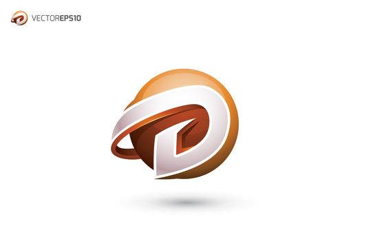 Abstract Letter D Logo - 3D Sphere Logo