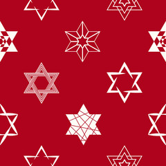 seamless pattern with star of David traditional Jewish symbol for your design