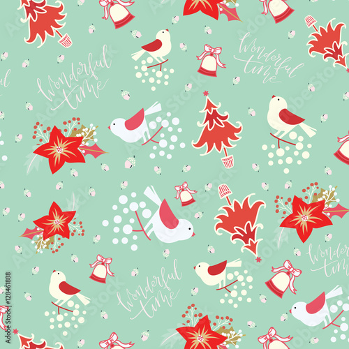 Hand Drawn Motifs Of Merry And Brighthappy Holidayshappy New Year