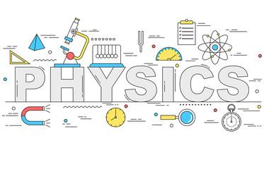 Physics line style illustration