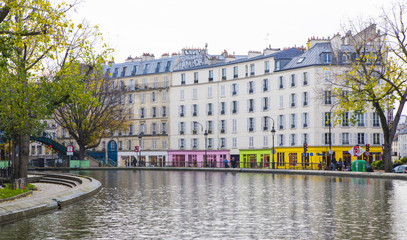Pont du canal Saint-Martin à Paris