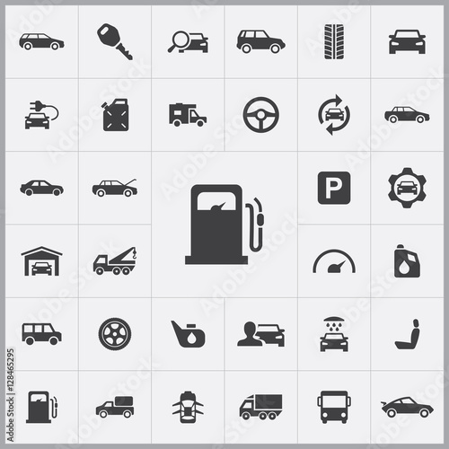 auto icons universal set