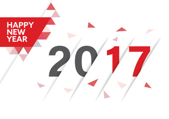 Happy new year 2017 vector background for Greeting Card, Calendar Cover, Website landing page.