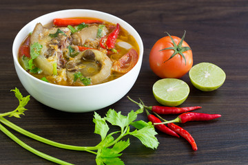 Oxtail soup, halal food, Delicious