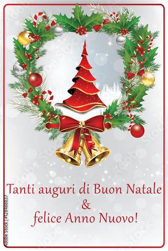 Foto E Auguri Di Buon Natale.Biglietti Di Auguri Di Buon Natale Felice Anno Nuovo Colori Di
