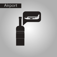 black and white style icon wine plane