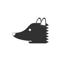 illustration in flat icon design fox