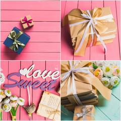 Valentine gift collage