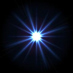 Vector blue shining star