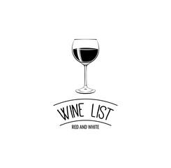 Wine List Glass Menu Card Design template.