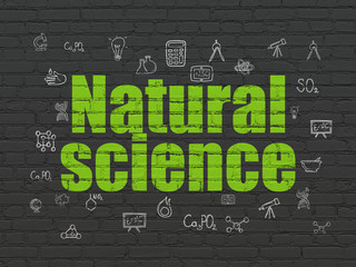 Science concept: Natural Science on wall background