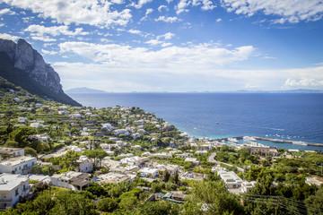 Panoramic view on Capri island, Campania, Italy