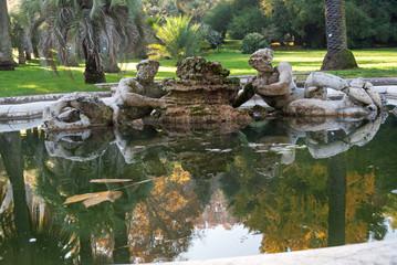 Roma, fontana nell'orto botanico