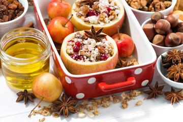 apples prepared for baking