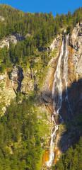 Waterfall Röthbachfall in Berchtesgaden National Park, Germany