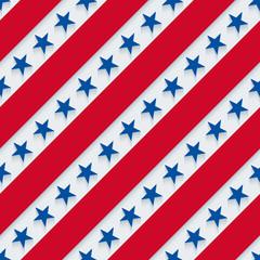 Stars and stripes american patriotic pattern.