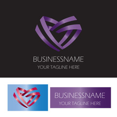 ribbon love abstract logo