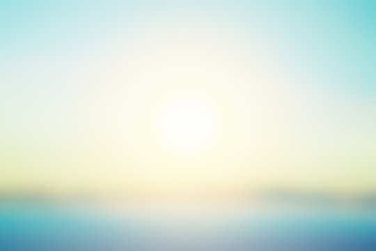 abstract bright sunset with de focused sun lights,Simple blurred background