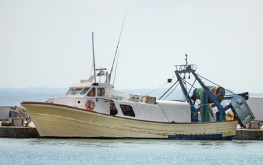 Fishing vessel in the port.