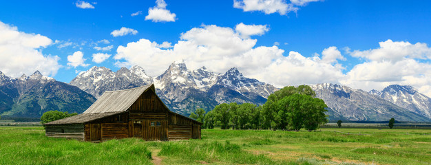 In de dag Bleke violet Old Barn In Jackson Hole