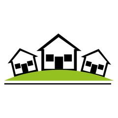 house real estate icon vector illustration design