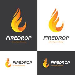 Fire flame drop logo