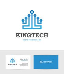 Technology logo looking like a king crown