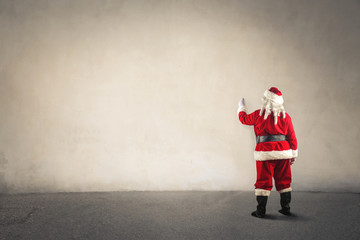 Santa Claus writing a message