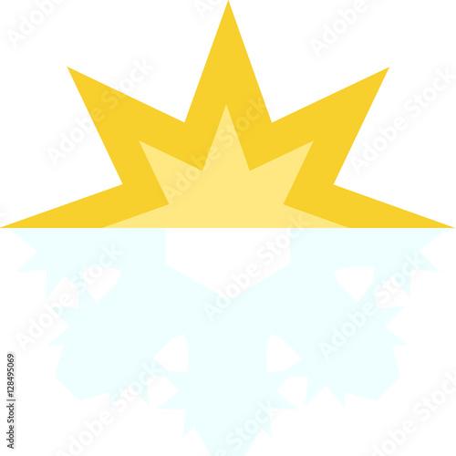 Half Sun Half Snowflake Icon Stock Image And Royalty Free Vector