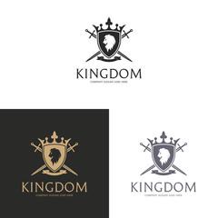 Kingdom. Lion coat of arms logo