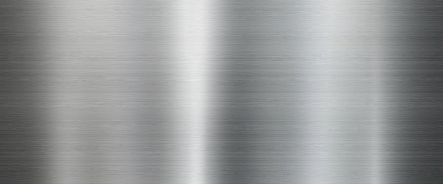 Metal texture background in silver