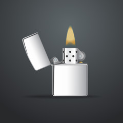 Realistic vector lighter. File is in eps10 format.