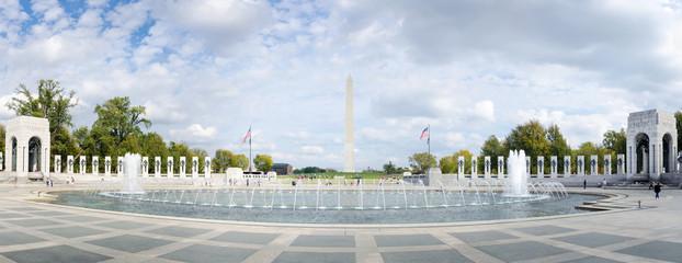 WASHINGTON DC, USA - OCTOBER 20, 2016: World War II memorial mon