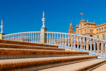 Seville. Spanish Square or Plaza de Espana.