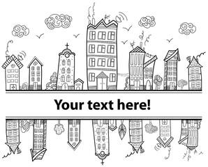 Text town frame.