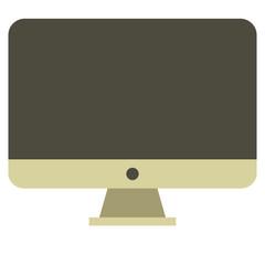 Gold computer monitor