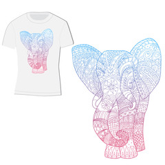 t-shirt design with an elephant