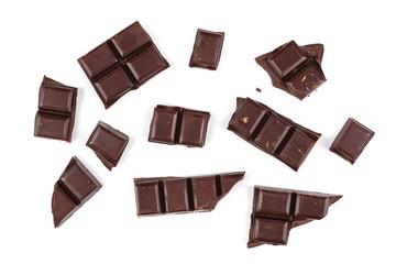 chocolate bars isolated on white background