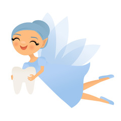 Smiling tooth fairy