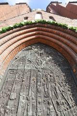 Bronze door, Cathedral Basilica of the Holy Cross, Opole, Poland