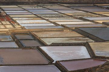 Colors in the salt flats of Janubio.
