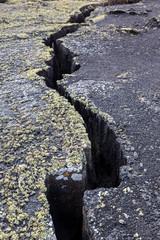 Volcanic crack Lanzarote island