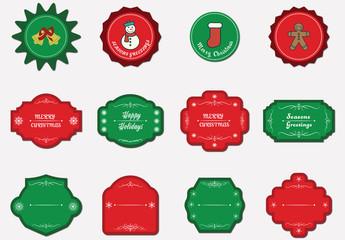 12 Christmas Tag Icons