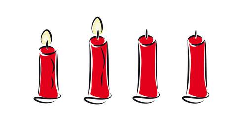 zwei brennende  kerzen - zweiter advent