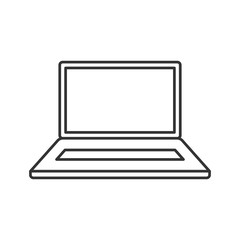 Laptop thin line icon