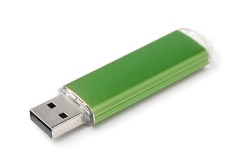 Green USB flash drive