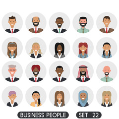 Avatar flat design icons. People icons. Vector illustration. Business people set 22